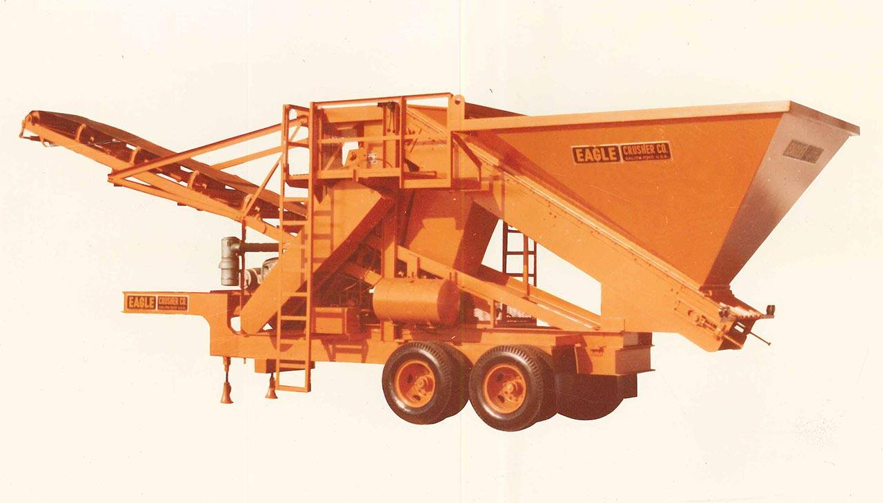 Eagle Crusher CLP-2448-HL 200-ton coal crusher from 1970