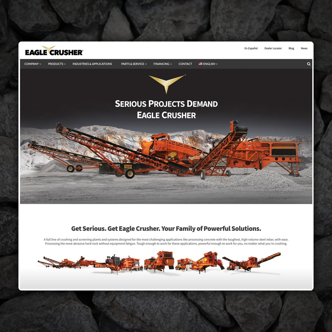 Eagle Crusher Launches New Company Website